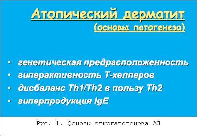 Атопический дерматит этиология и патогенез